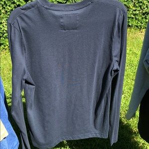 Abercrombie & Fitch Shirts - Abercrombie Fitch long sleeve navy tee